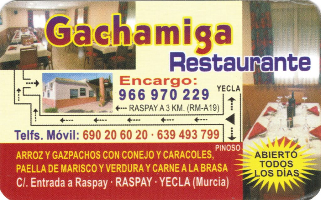 Gachamiga Restaurante Raspay